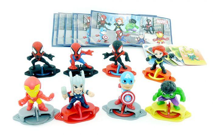Marvel Heroes aus dem Kinder Joy Ei (Komplettsatz EU)