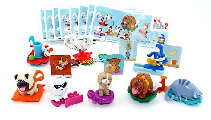 PETS  2 Figuren Set aus dem Kinder Überraschungsei (Komplettsatz)