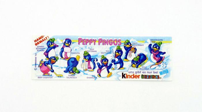 Peppy Pingos Beipackzettel von 1992