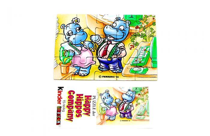 Happy Hippo Company Puzzleecke unten rechts mit Beipackzettel