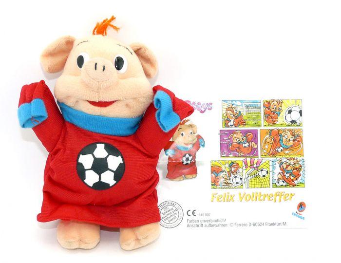 Felix Volltreffer von den Pinky Piggys aus dem Maxi Ei (Plüschfigur)