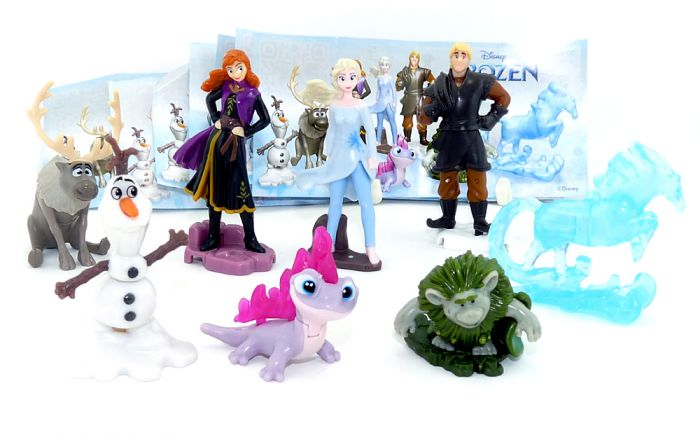 Komplettsatz mit 8 Figuren von Frozen 2 die Eiskönigin SD285A - VU340 mit allen Beipackzettel