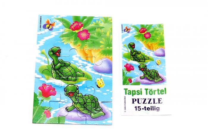 Puzzleecke unten links aus der ersten Tapsi Törtels Serie mit Beipackzettel (15 Teile Puzzle, selten)