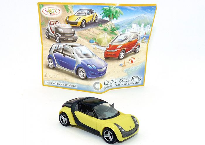 Smart Roadster Coupé 2004 in gelb Automodell in Maßstab 1:87