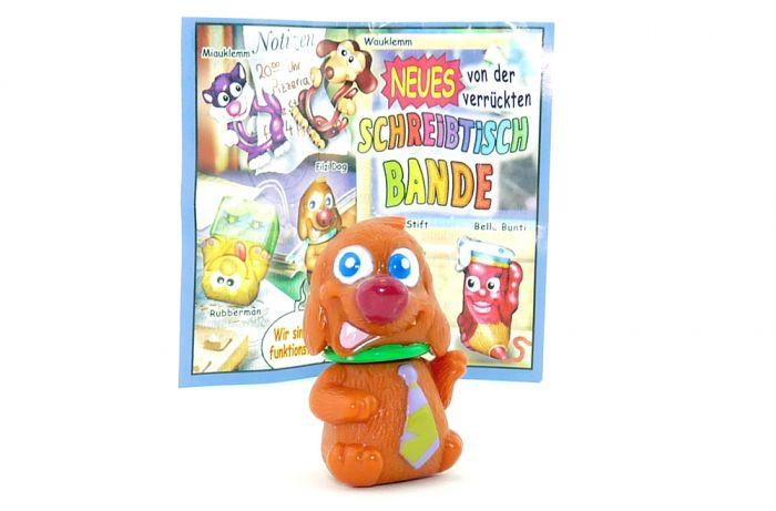 Filzi Dog mit grünen Halsband + BPZ (Schreibtischbande 2004)