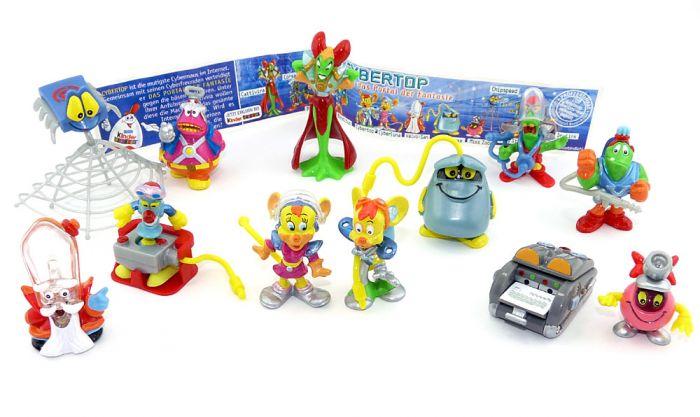 Alle 12 Figuren der Cybertops und 1 Beipackzettel (Ü-Ei Komplettsätze)