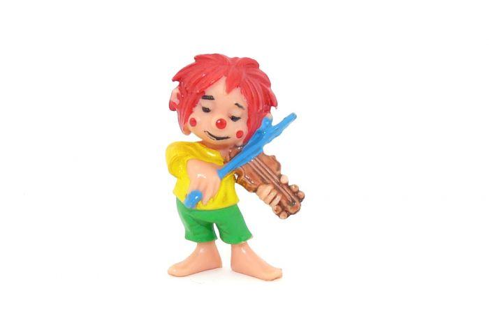 Pumuckl Lustiger Musikant mit sehr heller Geige (Ü-Ei Farbvariante)