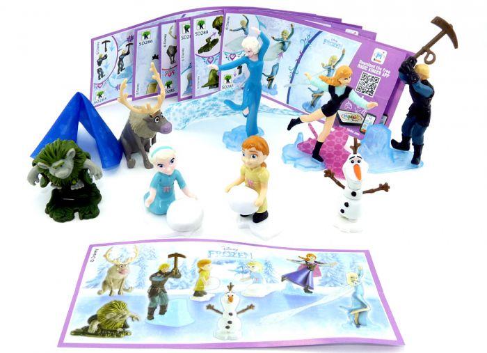"""Satz Disneys """"Die Eiskönigin - Frozen"""" alle Figuren der Serie mit allen Europa Beipackzetteln (Komplettsatz)"""