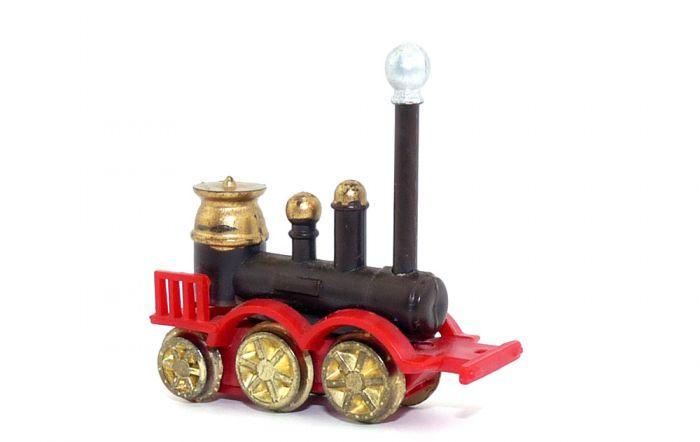 Ironside 1855 aus der Serie Historische Dampflokomotiven in BRAUN mit Metallrädern von 1980.