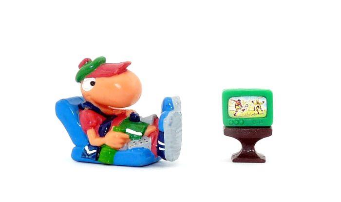 Bill Body als Sessel Libero mit Menschen TV in grün (Varianten)
