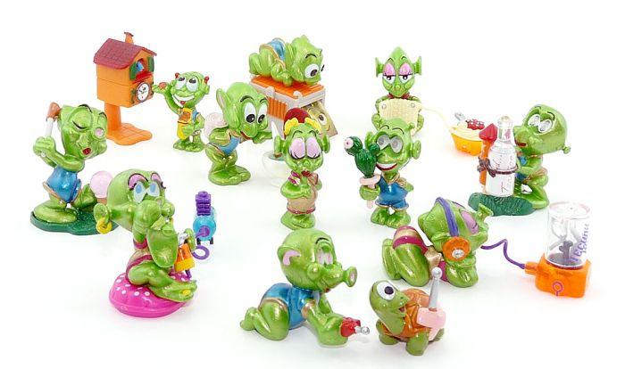 Alle 10 Figuren der Super Spacys mit Zubehör (Komplettsätze)