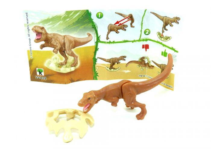 T - REX Tyrannosaurus, wo die Eierschale ocker ist. Jurassic World 2021 (Ü-Ei Variante)