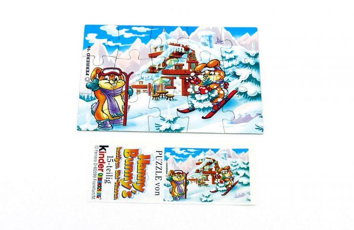Hanny Bunny Puzzleecke oben links mit Beipackzettel