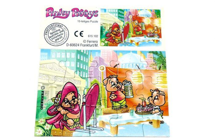 Pinky Piggys Puzzleecke oben links mit Beipackzettel