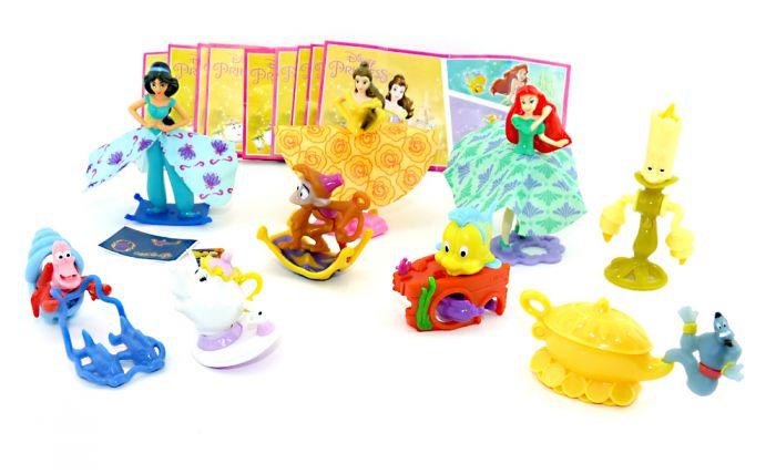 Disney Princess Figurensatz EN608 - EN616 aus Russland mit allen Beipackzetteln