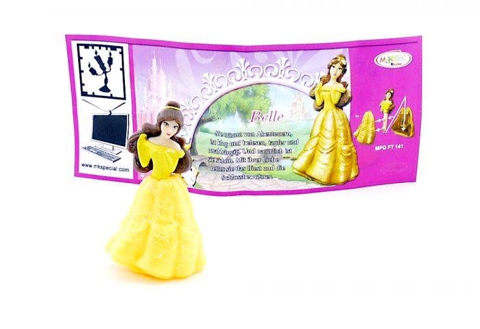 Belle mit deutschen Beipackzettel aus dem Ü-Ei (Prinzessinnen)
