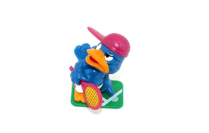 Mecker Joe von den Bingo Birds mit Tritt und Schläger
