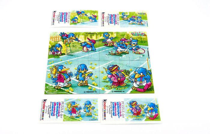 Bingo Birds, alle 4 Puzzlecken mit Beipackzetteln(Superpuzzle)