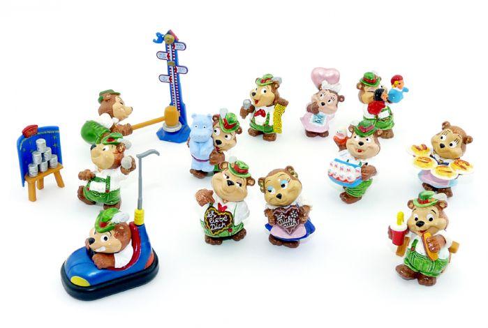 Top Ten Teddys in Volksfeststimmung, 12 Figuren (Komplettsätze)