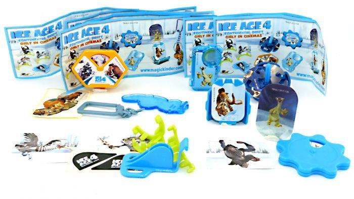 Spielzeug Satz von ICE AGE 4 mit acht Spielzeugen zur Serie mit allen Beipackzetteln
