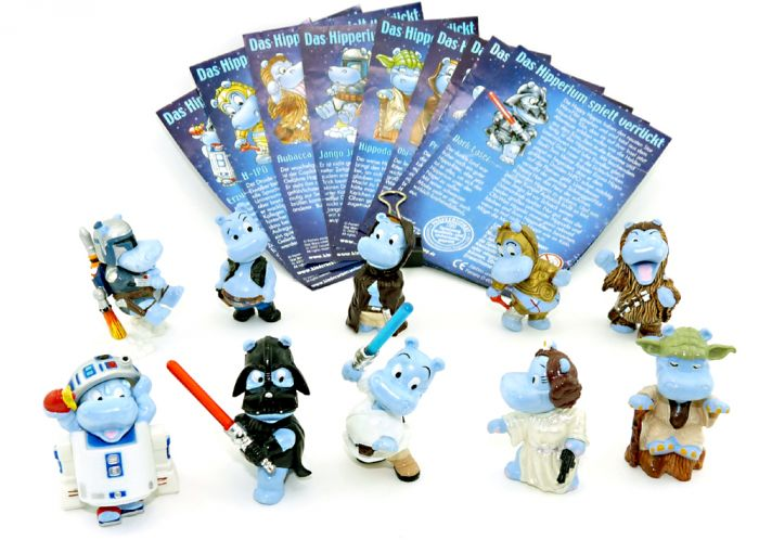 STAR WARS Hipperium Figuren Set, alle Figuren + 10 Beipackzettel