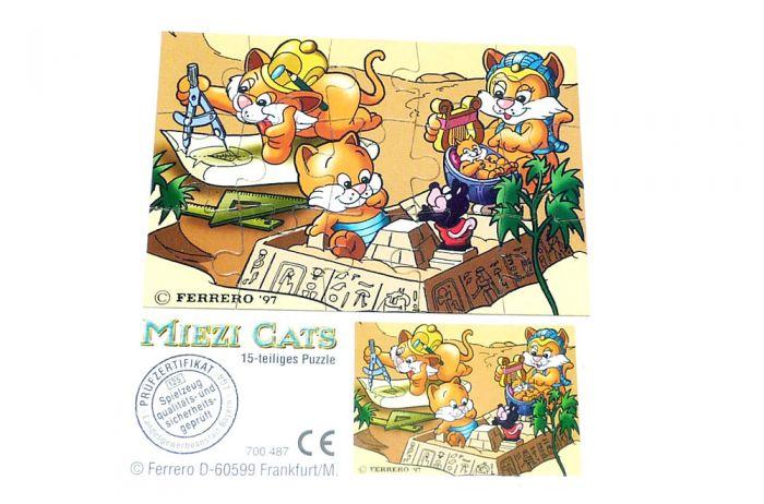 Miezi Cats Puzzle unten rechts mit Beipackzettel