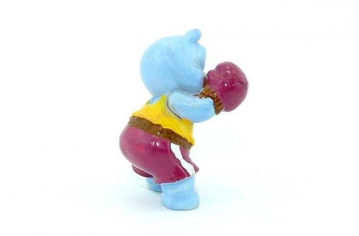 Brummer Beppo als Boxer. Gürtel und Handschuhe braun abgesetzt (Farbvariante)