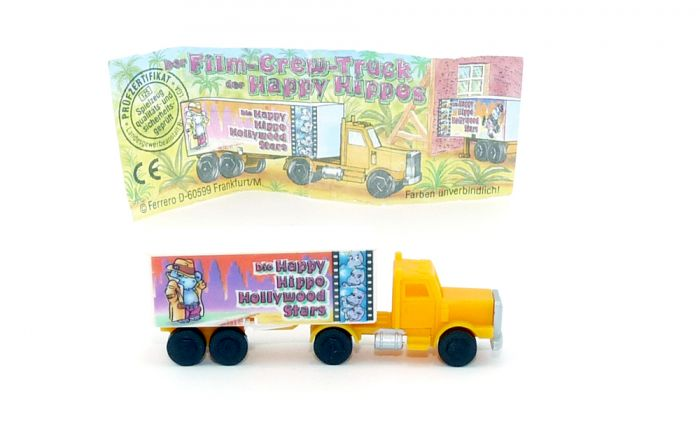 Truck Happy Hippo Hollywood in orange mit Beipackzettel (Motiv Humphrey Bogart)