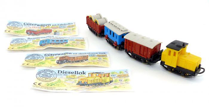 Satz Güterzüge mit Beipackzetteln, von 1995 (Locks und Züge)