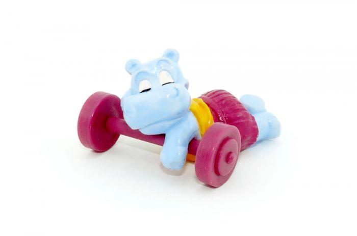 Träumer Tommi mit Hantel (Happy Hippo im Fitness Fieber)