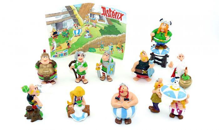 Asterix und die Römer Figurensatz aus Frankreich mit Zubehör und 1 Beipackzettel