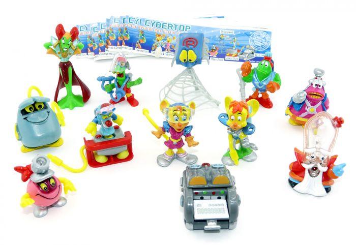 Alle 12 Figuren der Cybertops und 12 Beipackzettel (Komplettsätze)