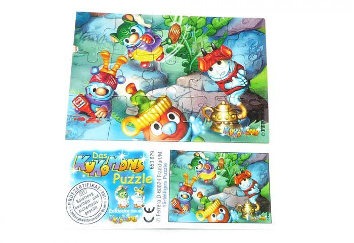 Kukomons Puzzleecke unten rechts mit Beipackzettel