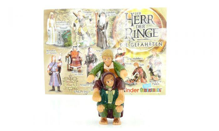 Merry und Pippin die Hobbits mit Beipackzettel, Herr der Ringe 1