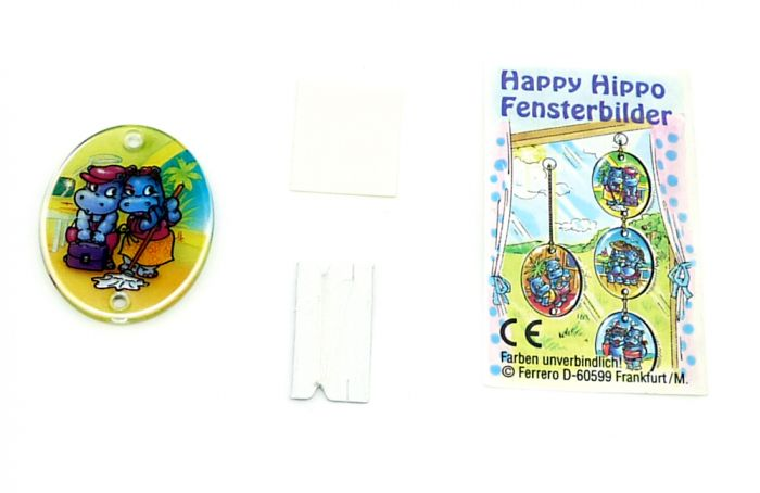 Fensterbild Happy Hippos mit Klara Klatschmaul