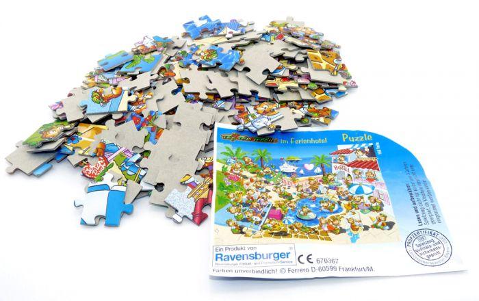 Maxi Ei Puzzle der Top Ten Teddies Traumurlaub mit Anleitung (150 TeilePuzzle)