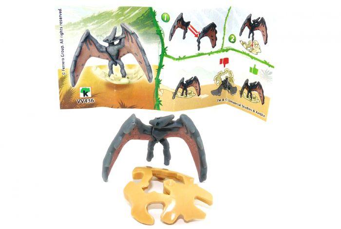 Pteranodon, wo die Eierschalte braun ist. Jurassic World 2021 (Ü-Ei Variante)