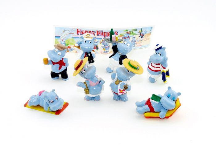 Satz Happy Hippos aus dem Merendero Ei von 2001 mit BPZ