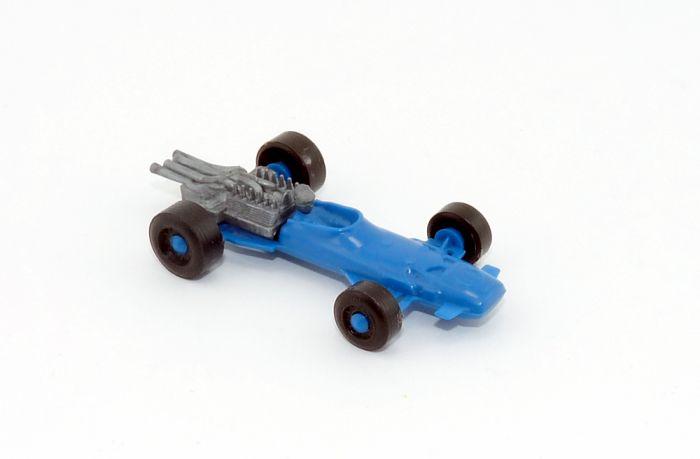 Blauer alter Rennwagen
