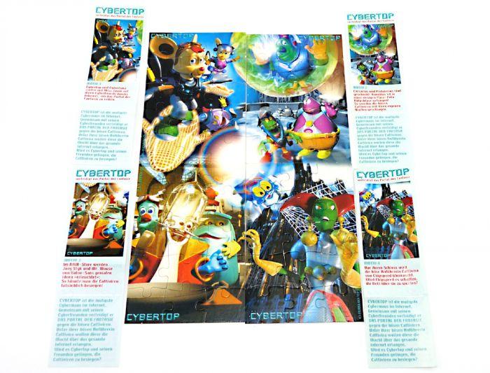 Cybertops, alle 4 Puzzle mit 4 Beipackzetteln (Superpuzzle)