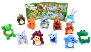 12 niedliche Tierfiguren der Serie mit einem Beipackzettel. Tierkinder von Nature
