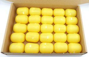 25 Ü-Ei Kapseln in gelb (Ü-Eier Kapsel von Ferrero)