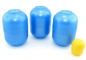 3 leere große blaue Maxi Ei Kapseln von Ferrero