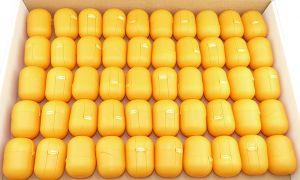 50 Ü-Ei Kapseln in orange (Ü-Eier Kapsel von Ferrero)