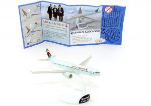 A330-A300 Flugzeug Air Canada, Beipackzettel und Aufkleber, Star Alliance