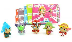 Alle 5 Figuren der Serie und die 5 Beipackzettel dazu (Manga Figuren)