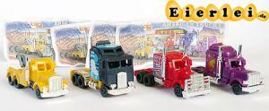 Satz American Trucks als Mini Modelle mit allen 4 Beipackzetteln