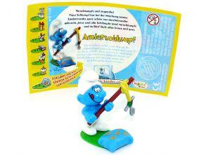 Angelschlumpf - Angler mit Beipackzettel (Schlümpfe 2008)