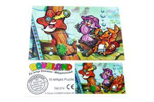 Aqualand Puzzleecke oben links mit Beipackzettel