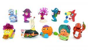 Alle 10 Figuren der Aqualand Serie von 1997/98 (Komplettsatz)